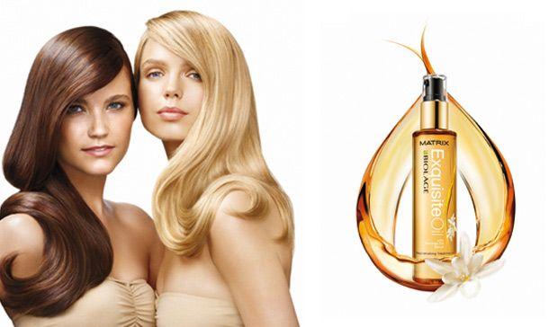 Блиск і відхід від масла для волосся матрикс