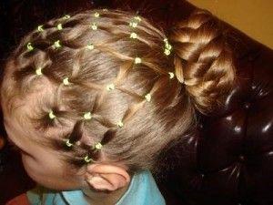 дитяча зачіска пучок
