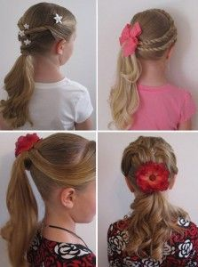 зачіска з хвостиків