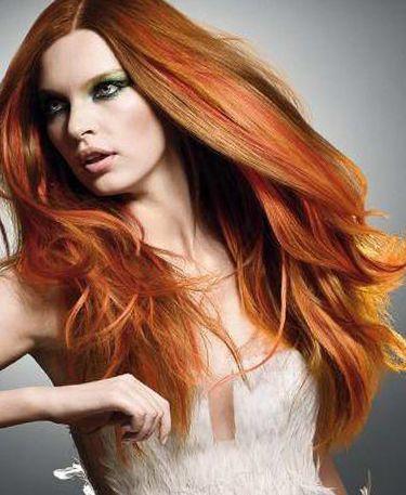 Освітлення рудого волосся