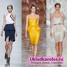 Сукня з басками - красиво і стильно
