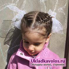 Зачіски для дівчаток з бантами