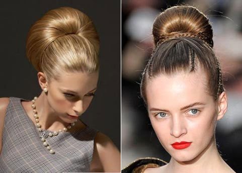Пучки з волосся (36 фото) - все про модному тренді