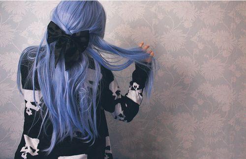 Синє волосся (35 фото) - небесне досконалість