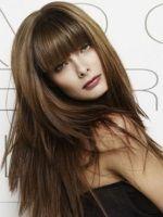 Стрижка каскад на довге волосся фото