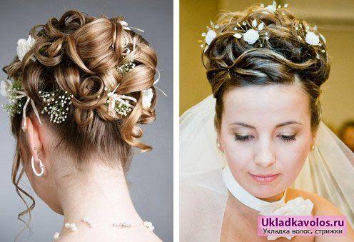 Весільні зачіски на середній волосся