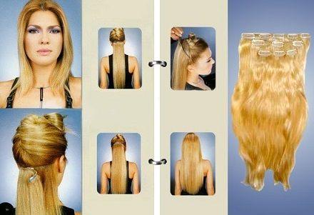 Волосся на кліпсах